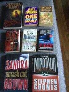 Fiction: Stephen king, Nora Roberts, Sandra Brown, Stephen Coont