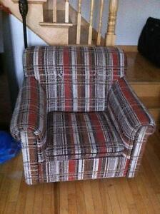 Fabric armchair (with wheels) for only $25 !