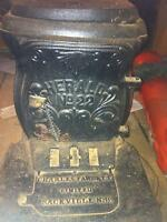 Cast iron Charles Fawcett Limited antique stove