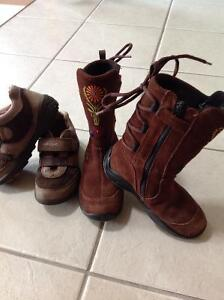 GIRL ECCO Brown GORTEX Boots & GEOX Shoes Euro 28 or US 10.5/11