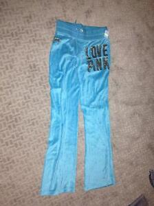 XS PINK Velour pants for sale