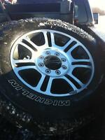 """20"""" FORD PLATINUM 4 RIMS AND TIRES"""
