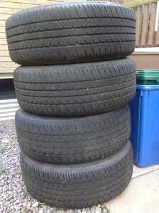 225 60 r16  Firestone tires and rims a set of 4 only $110