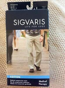 Compression socks Sigvaris BNIB NEW cotton size M2 black