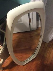 MIRROR CHALK PAINTED AND SEALED