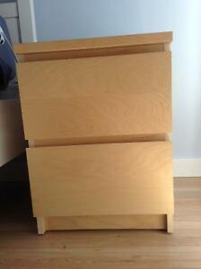 TWO IKEA Malm bed side tables