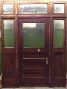 Beautiful Vintage Oak and glass Entrance System!