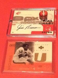 Jim Brown autograph and jersey card from Upper Deck
