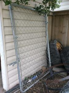 Chain link gate, fence and poles