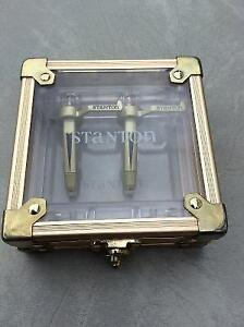 TWO - Stanton GrooveMaster II pro gold phono cartridges