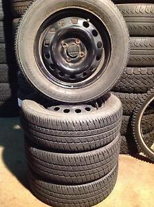 4 pneus d'été 185/65 r14 firestone fr710 sur rime.    120$