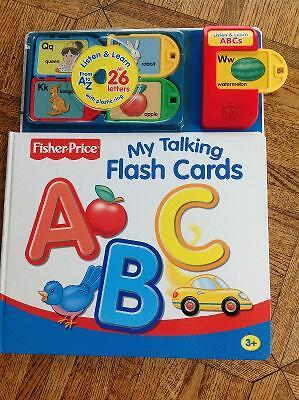 FISHER PRICE My Talking Flash Cards ABC Board Book Ages 3+