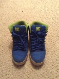 Blue and green DC Shoes size 12