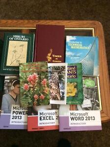 First year ConCollege Environmental technician/forestry books