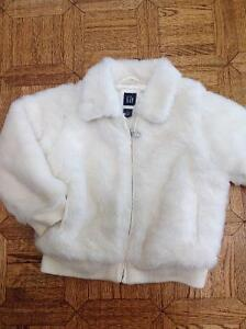 GAP Fleece CONVERTIBLE Jacket Coat to Vest Girl Size 5 EXCELLENT