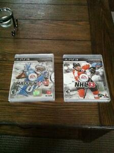 PS3 Games Madden 13 NHL 13 $10 each