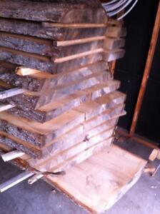 Live edge kiln dried maple boards for sale