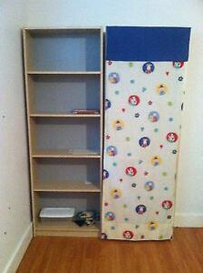 2 armoires de rangement avec rideaux pour enfants salle de jeux