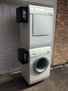 """washer and dryer coin operated unit 24"""" wide"""