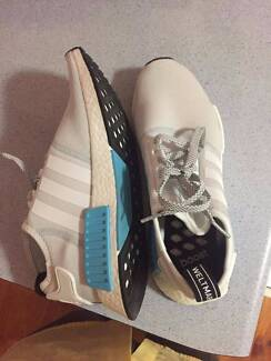Adidas Originals NMD R1 Mens Shoes White/Bright Cyan
