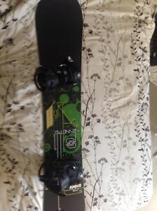 Never used snowboard and boots