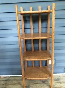 Antique solid oak book case