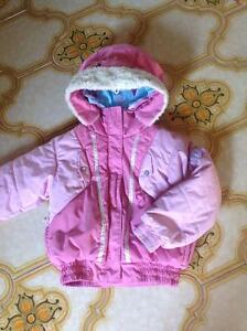 COLUMBIA Size 4/5 Jacket Coat Girl Pink Waterproof Fabric