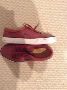 SELLING RED LACOSTE SHOES!
