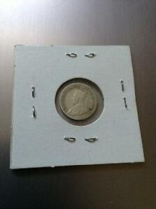 King Geroge V old Canada sterling silver coin 1918