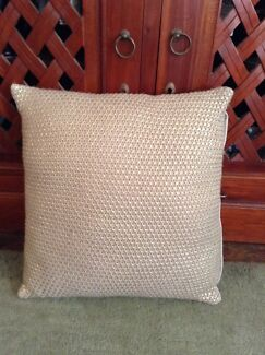 Kmart Gold Knit Cushion   Metallic