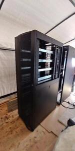 Tripp Lite 42U  Server Rack Enclosure /w Doors very clean  ONE SIDE MISSING