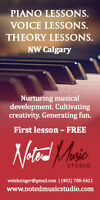 Voice and Piano Lessons, NW Calgary