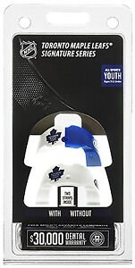 Toronto Maple Leafs Youth Mouthguards.  Package of 2