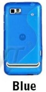 Slim Line Wave Gel Case Cover for Motorola Motoluxe XT615 - Blue