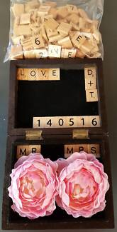 Wedding reception and ceremony items - decorations, ring box