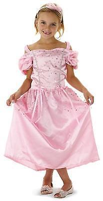 Kinder KOSTÜM Prinzessin rosa glitzernd für Mädchen zu Karneval oder zur Party
