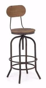 INDUSTRIAL SWIVEL BAR STOOL COUNTER STOOL