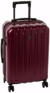 New Delsey Luggage Helium Titanium Carry-On EXP Spinner Trolley Red, Black Cherry *PickupOnly