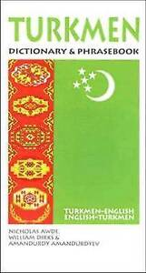Turkmen-English/English-Turkmen Dictionary and Phrasebook by Nicholas Awde,...