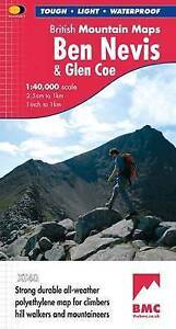 Ben Nevis BMC British Mountain Map 1:40 000