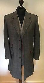FERAUD HARRIS TWEED COAT size L chest 42/44