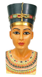 EGYPTIAN-QUEEN-NEFERTITI-FIGURINE-BUST-GORGEOUS-ANCIENT-EGYPT-COLLECTIBLE-FIGURE