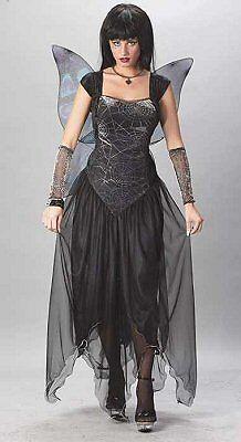 Goth Fairy Princess Gothic Dark Angel Dress Up Sexy Halloween Adult Costume ()