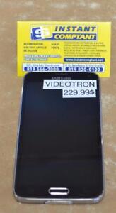 Téléphone cellulaire samsung s5  avec vidéotron