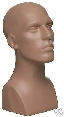 Male Men Pe Plastic Mannequin Head Display Nude 50013