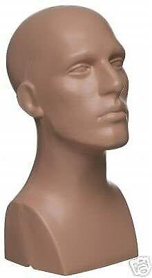 Male Men Pe Plastic Mannequin Head Display Nude 50013
