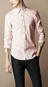 Burberry Brit Classic Henry Shirt in Pale Pink - Brand New