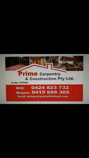 Carpentry and construction !!! Belfield Canterbury Area Preview