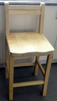 solid timber high chair for sale, H605mm