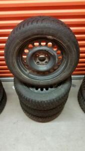 (H7) Pneus Hiver - Winter Tires 185-55-15 Sailun 2x 7/32 2x 8/32